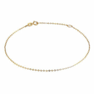 9ct-Gold-Hammered-Trace-Chain-Bracelet-7-8-Inches