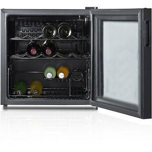 Image Is Loading Wine Cooler 16 Bottle Refrigerator Bar Fridge Glass