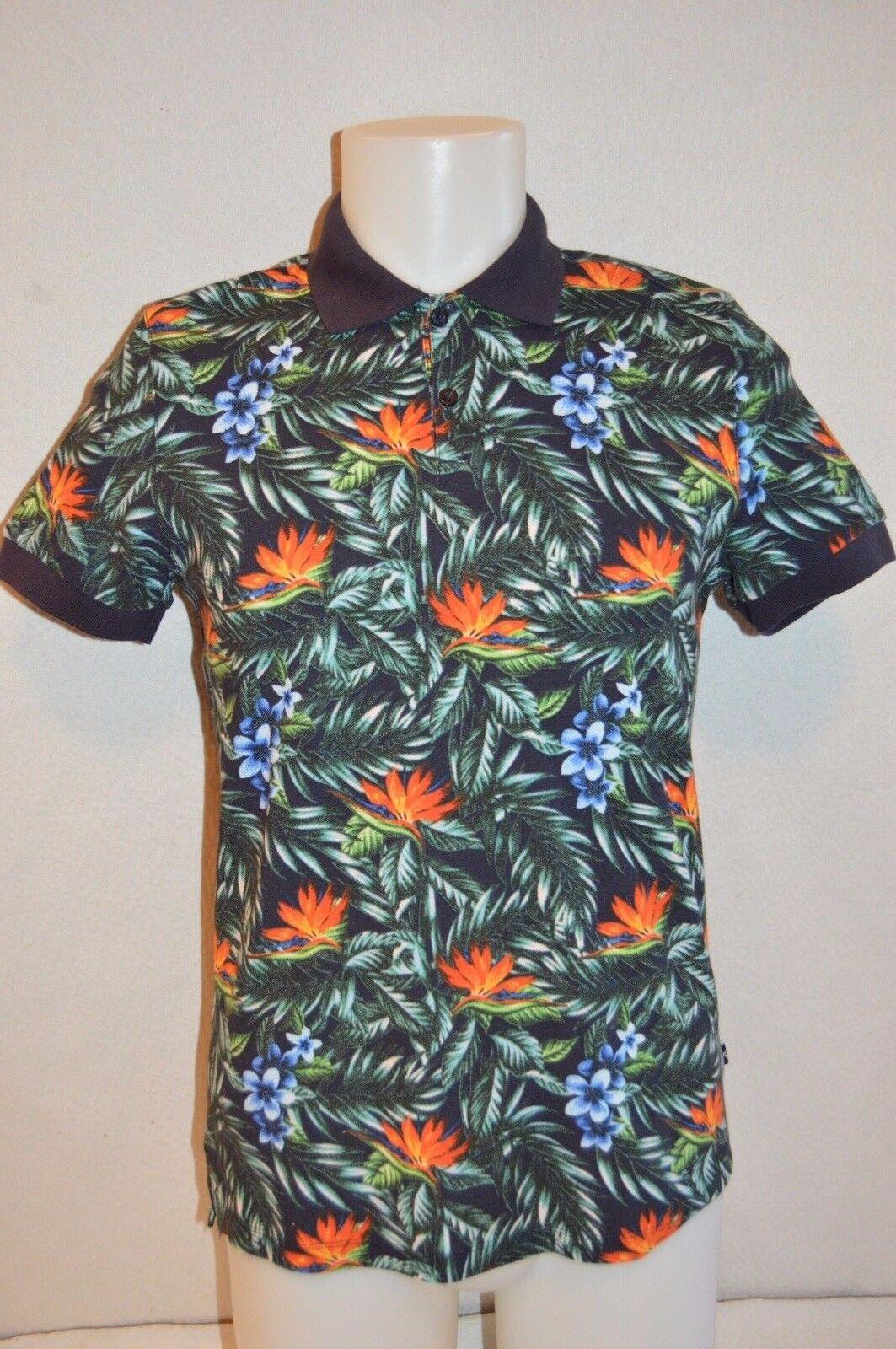 J. LINDEBERG Mans RUBI BOTANICAL PIQUE Polo Shirt NEW Größe Medium Retail 125