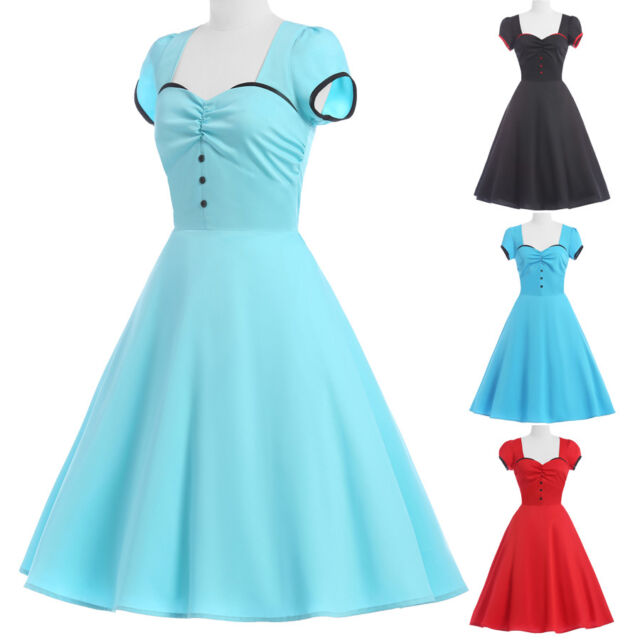 Clearance Vintage 50s 40s Retro Swing Pinup Housewife Evening Dresses