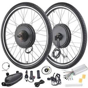 "New 26/"" Electric Bicycle Rear Wheel 48V 1000W//1500W Ebike Motor Conversion Kit."