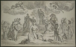 After Francois Perrier (1590-1650): The death of Niobe and her sons, engraving