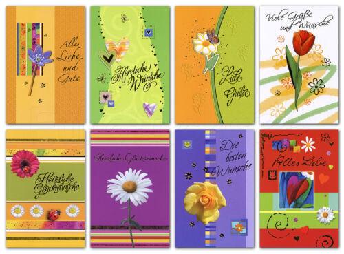 100 Grußkarten verschiedene Anlässe Glückwunschkarten Danke Alles Gute 41-1980