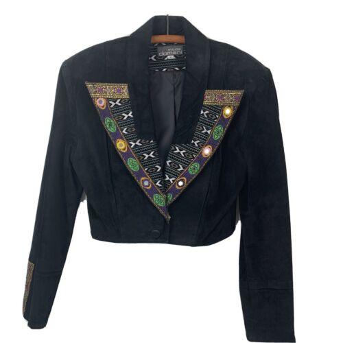 Made in the USA crop top 80s Tasseled and Cropped Bolero Blazer designer blazer tasseled