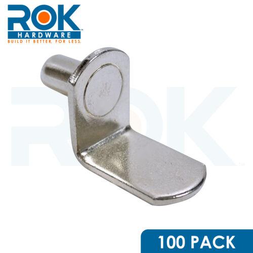 "Nickel SHIPS FREE 100 Pack 1//4/"" Diameter L-Shaped Shelf Support"