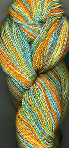 1 Skein Hand-dyed Fancy Image Superwash Merino Wool Multicolor 400 Yards