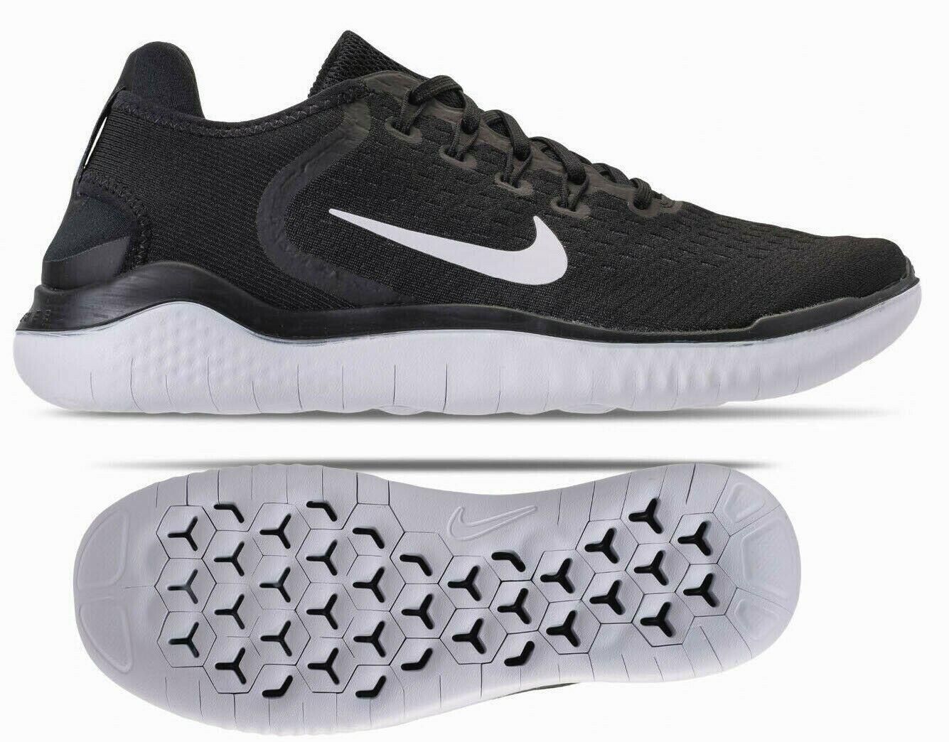 New NIKE Free RN 2018 Men's Running shoes black white all sizes