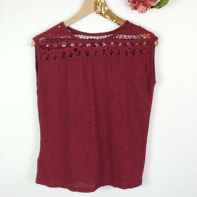 L NWT Ann Taylor LOFT Teal Lace sleeveless women/'s blouse shirt Top Sz XS M