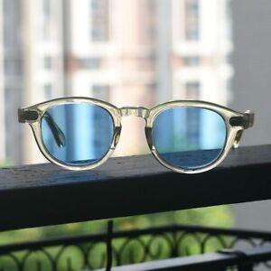 a812ccdec7e Image is loading Vintage-Johnny-depp-sunglasses-crystal-yellow-eyelass-blue-