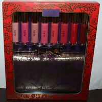 Tarte Clutch The Spirit 8 Pc Deluxe Maracuja Lip Gloss & Gold/purple Clutch Set