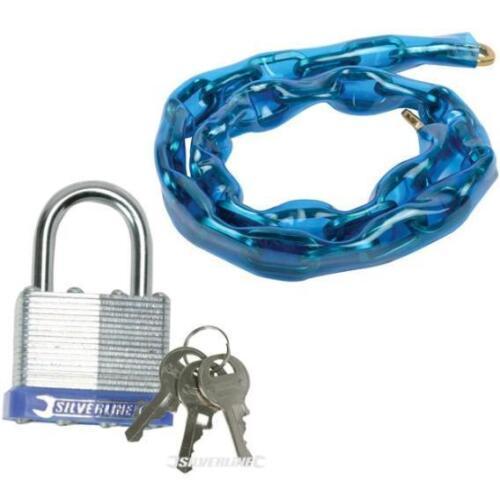 Steel security CHAIN 1500 mm /& Cadenas pour vélo moto cycle Gate