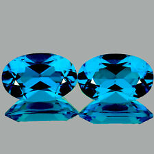 FLAWLESS~BEST PAIR! OVAL 9x6mm AAA+ BEST SWISS BLUE TOPAZ NATURAL LOOSE GEMSTONE