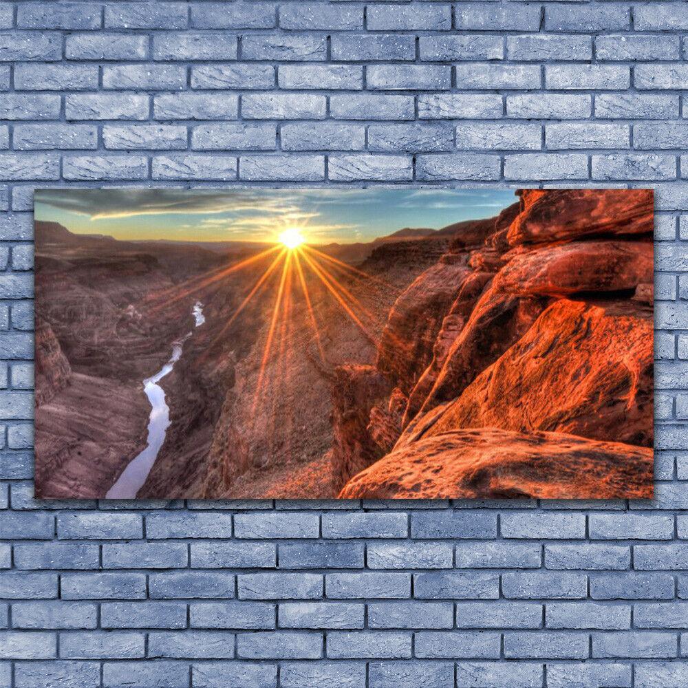 Glass print Wall art 140x70 Image Picture Sun Desert Landscape