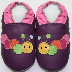 Suola-Morbida-Pelle-Scarpe-da-Bambino-Caterpillar-Viola-3-4y-USA-10-11-Pantofole