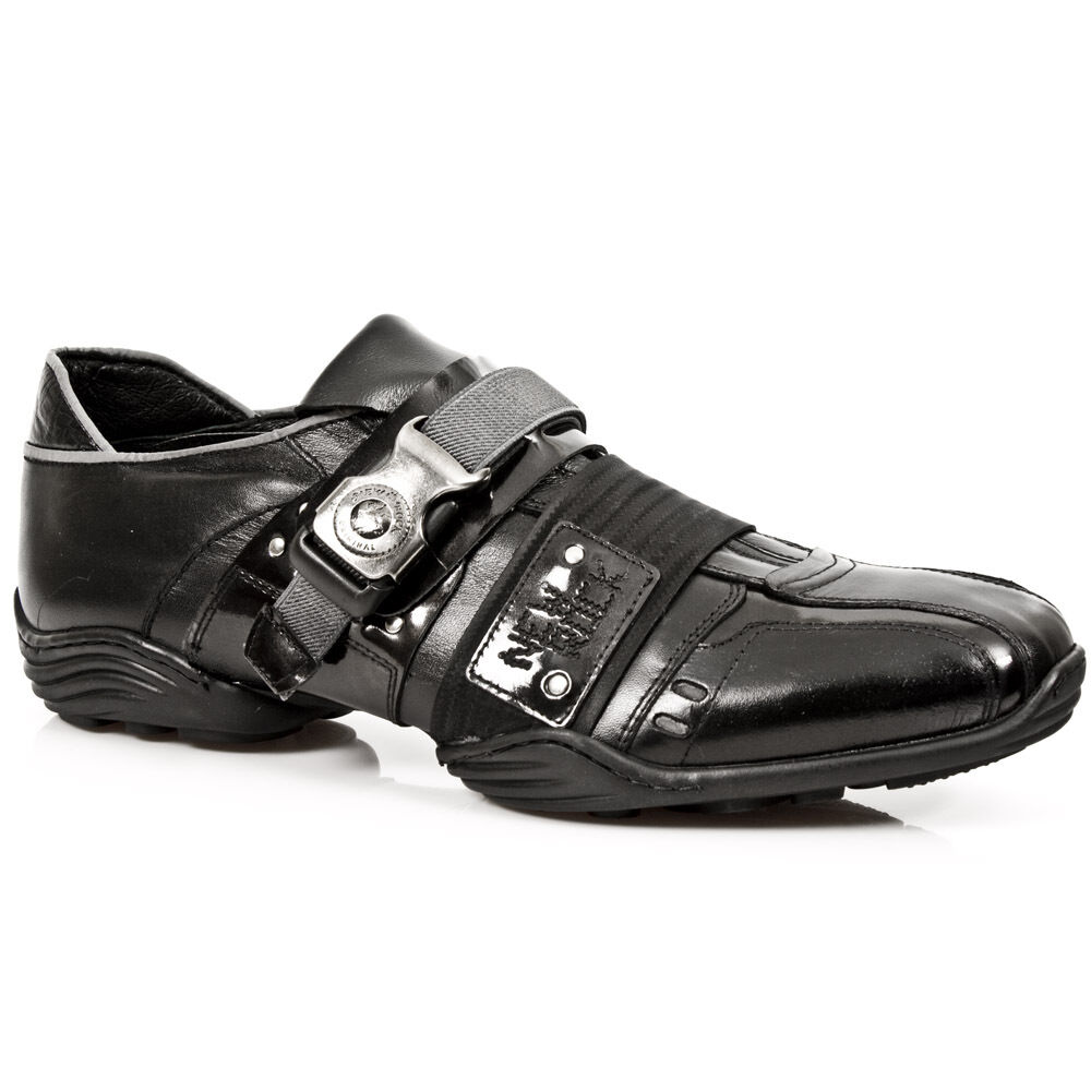 New Rock Stiefel Stiefel Stiefel Unisex Punk Gothic Stiefel - Style 8147 S1 Silber d47054