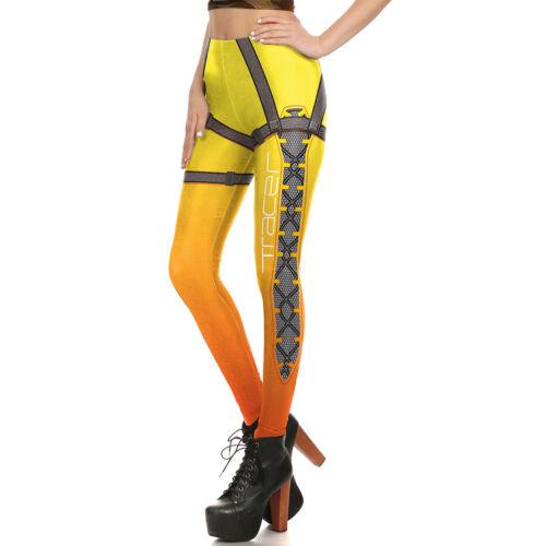 Pantalon NEUF Jeu OW Overwatch Traceur 2 Pcs femmes cosplay Leggings Stretch Top
