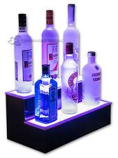 22 2 Step Tier Led Lighted Shelves Illuminated Liquor Bottle Display Free Ship