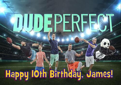 ANY NAME AGE RELATION DUDE PERFECT D2 PERSONALISED BIRTHDAY CARD