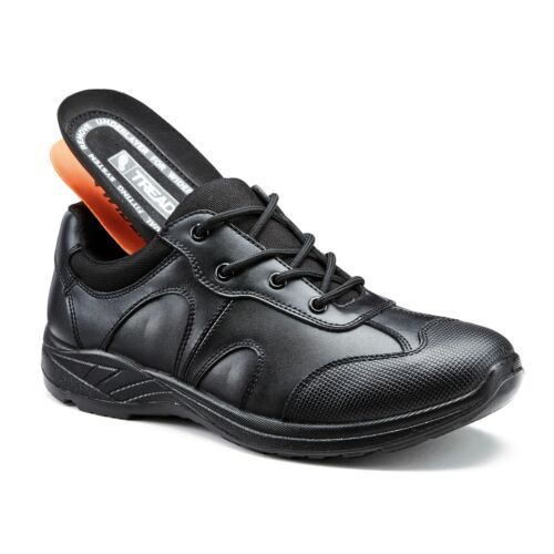 School Shoes Boys Black Leather Lace Up 12 Month Indestructible Guarantee TREADS