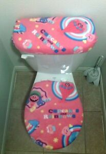 Dreamworks Trolls Cupcakes And Rainbows Pink Fleece Toilet