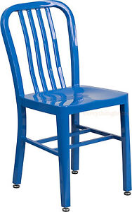 MID-CENTURY-BLUE-039-NAVY-039-STYLE-DINING-CHAIR-CAFE-PATIO-RESTAURANT-IN-OUTDOOR