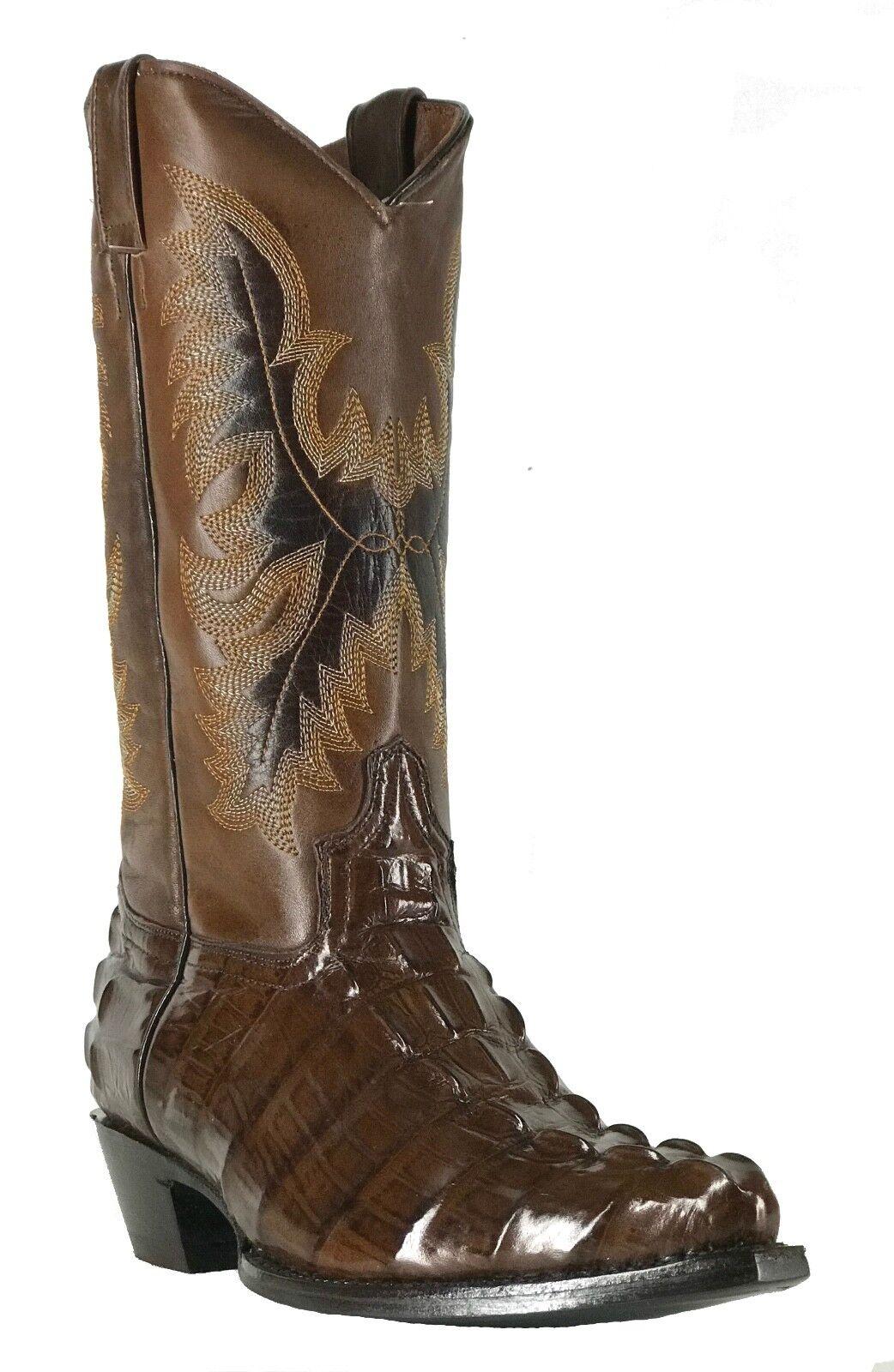 Para Mujeres Mujeres Mujeres Cuero Nuevo Diseño Cocodrilo Western Cowgirl Biker botas SNIP Marrón 1272d4