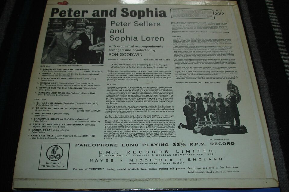 LP, Peter Sellers And Sophia Loren, Peter And Sophia