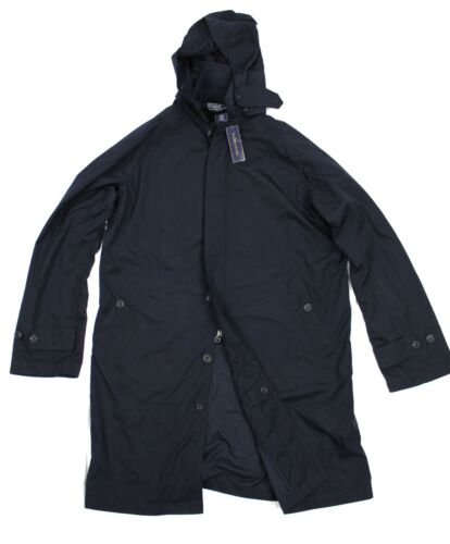 Polo Ralph Lauren Wimbledon Navy Hooded Trench Jacket Umpire Raincoat Parka Coat
