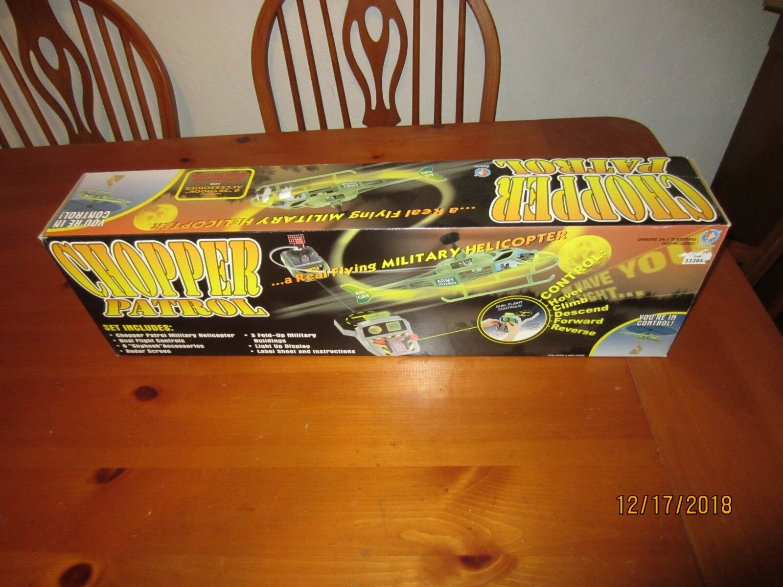 Jasman Chopper Patrol Flying Helicopter..NIB greenibird