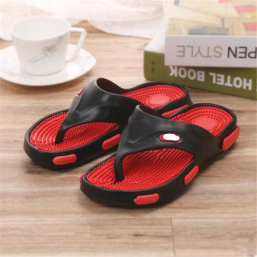 3 Men/'s Casual Massage Sandals Flip Flops Sandals Slippers Wear Flat Beach Shoes
