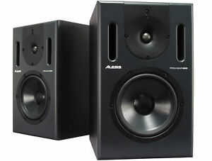 ALESIS PROLINEAR 820 ACTIVE STUDIO MONITORS-out of production-RARE-free freight