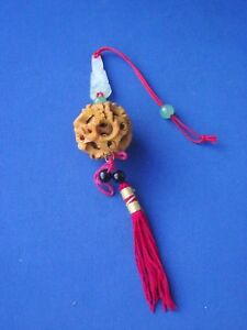 Oriental-Small-Wooden-Wood-Carved-Sandalwood-Scented-Ball-Stone-Carving-Beads