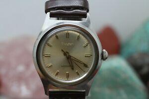 1960-Bulova-Slim-17j-Hand-Wind-Stainless-Steel-Mens-Dress-Wrist-Watch-Running