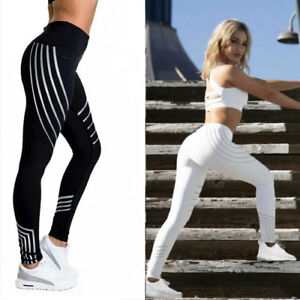 HOT Femmes Yoga Fitness Leggings Running Gym Stretch Sports Pantalons Pants SP