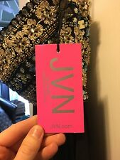 NEW JVN Jovani High Low Long Beaded Bodice Evening Prom Formal Size 4 Black