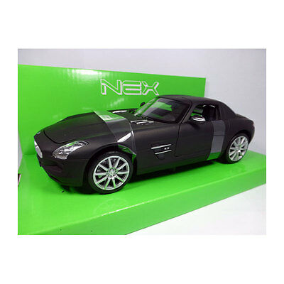 c197 Matt Sw Scale 1:24 Model Car New !° High Standard In Quality And Hygiene Orderly Welly 24025 Mercedes Benz Sls Amg