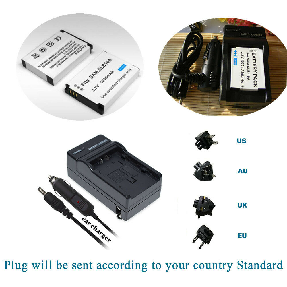 Replacement Camera Battery Or Charger for Toshiba PX1733 Camileo S30 HD/S30