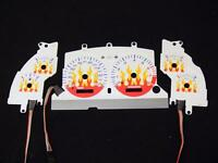 96-98 Ford Mustang Gt Color Glow Gauge (beating Flame)