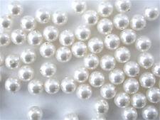 50 White Swarovski Crystal Beads Pearls 5810 6mm