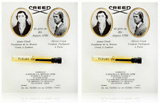 CREED FLEURS DE BULGARIE .08OZ 2.5ML X 2 = 0.16 OZ 5ML SAMPLE VIAL MINI LOT SET
