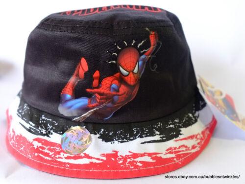 NEW SPIDER-MAN BUCKET HAT /'Spider Sense/' COTTON BOYS//GIRLS Red//Black 50//52cm