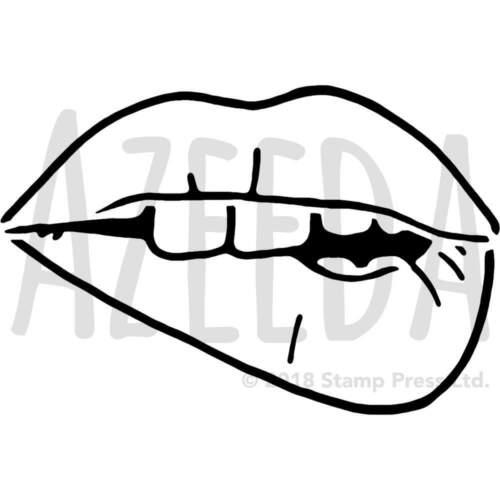 /'Biting Lips/' Wall Stencils WS019862 Templates