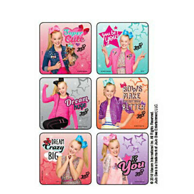 25 JoJo Siwa Dance Star Foil STICKERS Party Favors for Birthday Treat Loot Bags