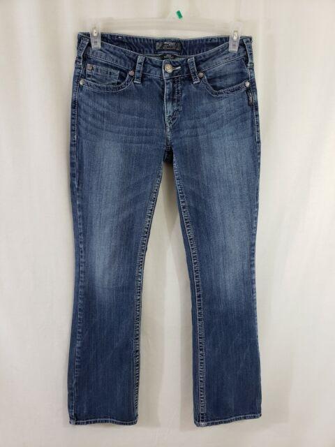 Silver Jeans Aiko Boot Cut Womens Blue Denim Size 32 x 33 Medium Wash Low Rise