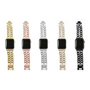 Stainless-Steel-Double-Row-Chain-Link-Apple-Watch-Band-All-Series-All-Faces