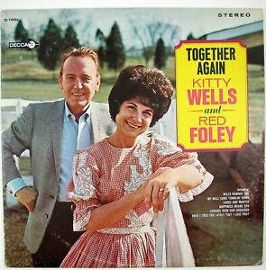 KITTY-WELLS-AND-RED-FOLEY-Together-Again-LP-1967-COUN-TRY-NM-NM