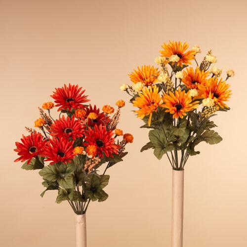 "2369240 Set//2 18/"" Mixed Chrysanthemum Flower Mum Floral Bush Pick Autumn Harvest"