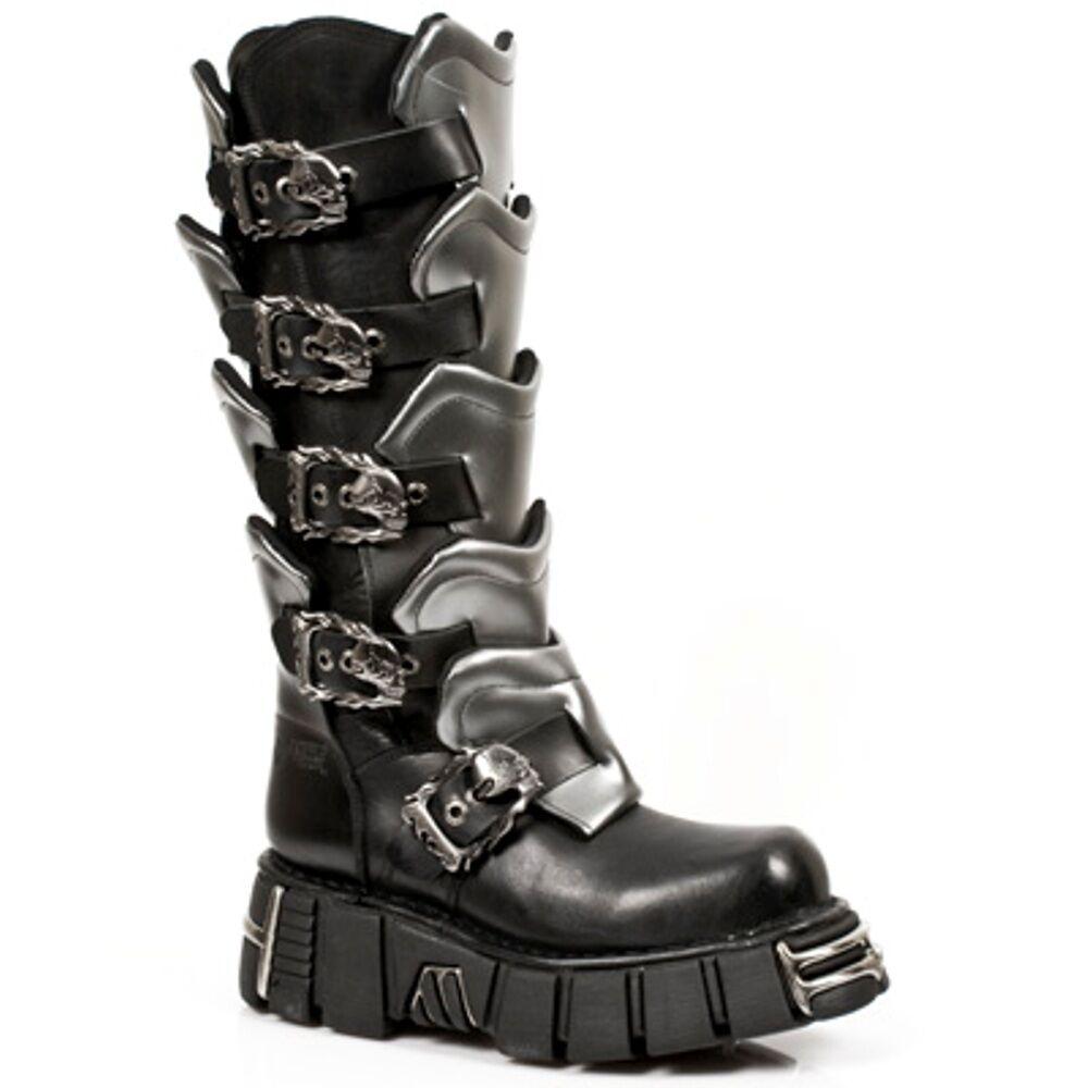 New Rock Boots Unisexe Punk Gothic Bottes - Style 738 S1 black