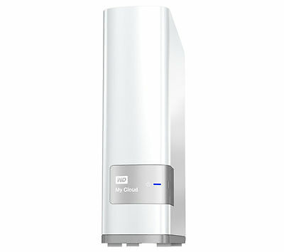 WD My Cloud External Hard Drive 4TB White, Mobile app available, USB 3.0 x1