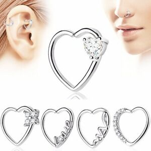 b82a62e15 Image is loading CZ-GEM-LINED-HEART-SHAPED-DAITH-CARTILAGE-PIERCING-